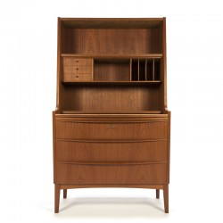 Danish vintage secretaire cabinet in teak
