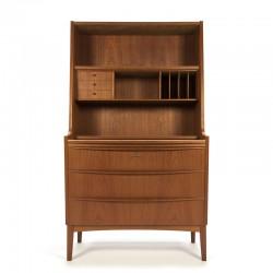 Deens vintage secretaire meubel in teakhout