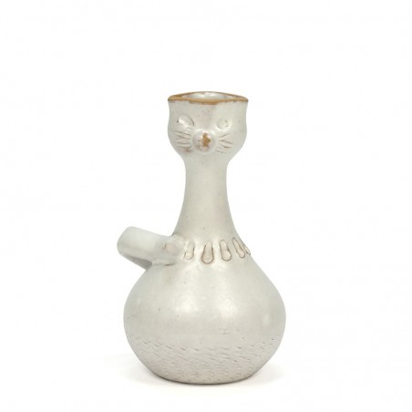 Small vintage vase in the shape of a cat