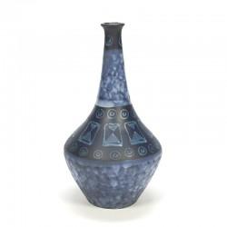 Earthenware vintage design vase blue