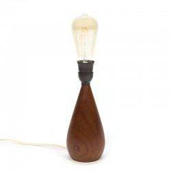 Jaren zestig Deense vintage teakhouten lampenvoet