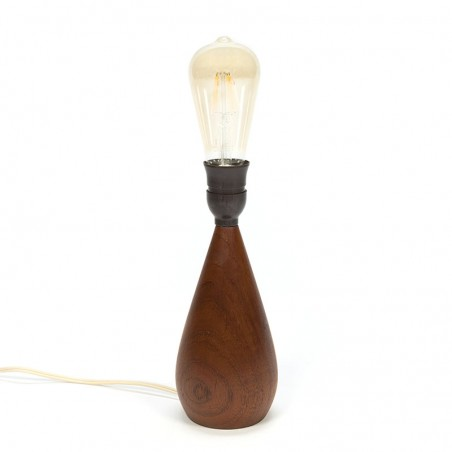 Sixties Danish vintage teak lamp base