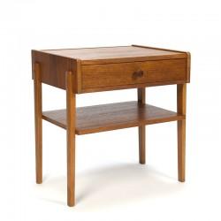 Swedish teak vintage bedside table or side table