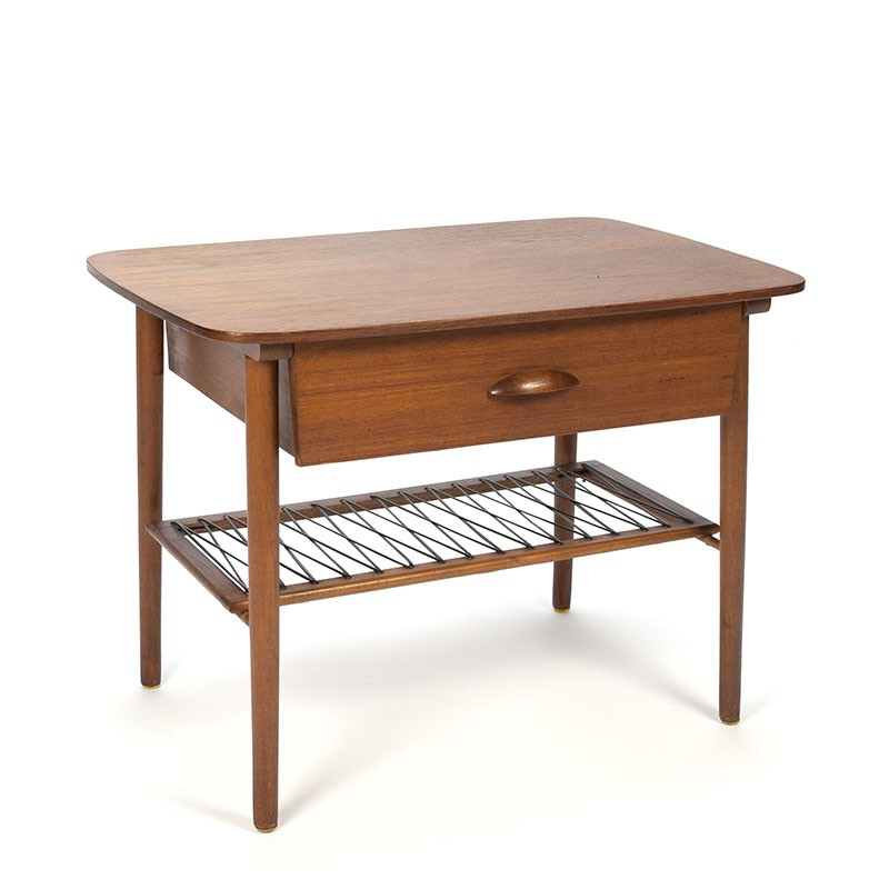 Side table with drawer vintage Danish design