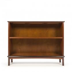 Vintage low model bookcase in teak