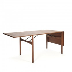 Danish teak drop down leaf design dining table