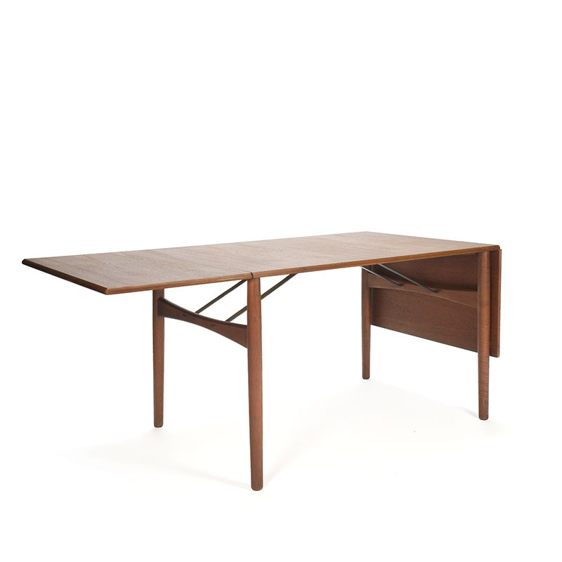Danish teak drop down leaf design dining table