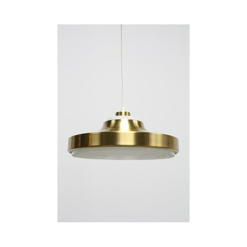 Brass colored hanging lamp