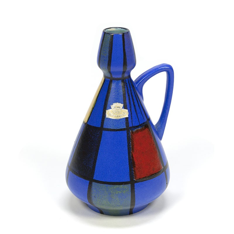 Vintage Bay vase in primary colors