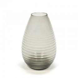 Glazen vintage ribbel vaas ontwerp A.D. Copier