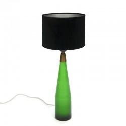 Groen glazen vintage tafellamp