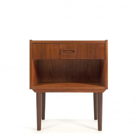 Teak vintage Danish bedside table with 1 drawer
