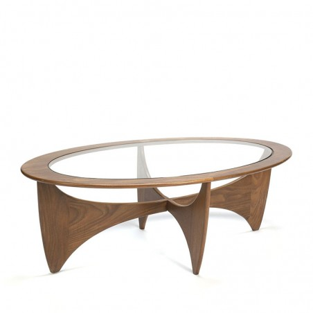 Vintage oval Astro coffee table by Gplan
