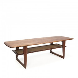 Danish design coffee table in teak vintage 1960s