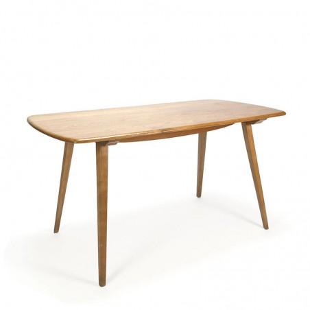 Vintage Ercol plank table design L.R. Ercolani
