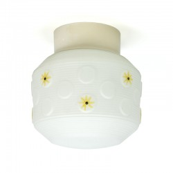 Vintage ceiling lamp with yellow detail