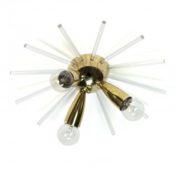 Vintage brass ceiling lamp sputnik model