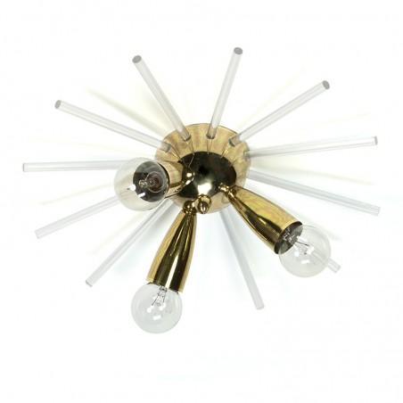 Vintage messing plafondlamp spoetnik model