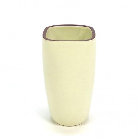 Earthenware Dutch vintage yellow Ravelli vase
