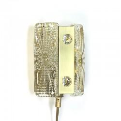 Deense Vitrika design wandlamp met kristalglas