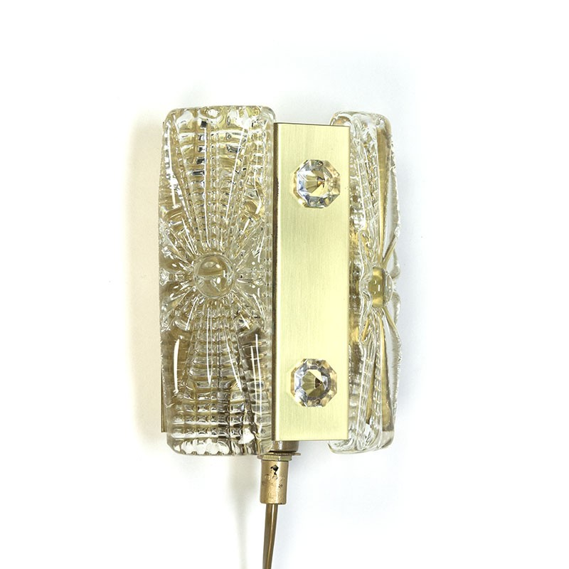 Danish Vitrika design wall lamp with crystal glass
