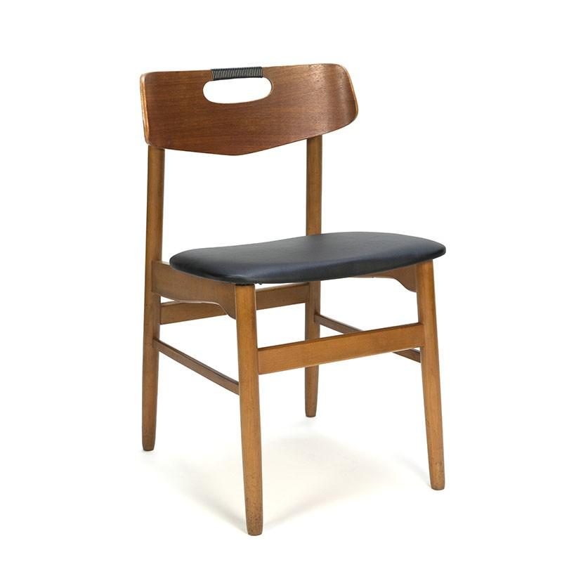 Vintage fifties Danish teak dining table chair