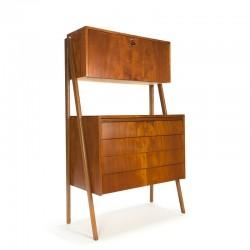 Vintage Scandinavisch secretaire meubel met open design