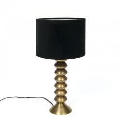 Vintage tafellamp met messing voet