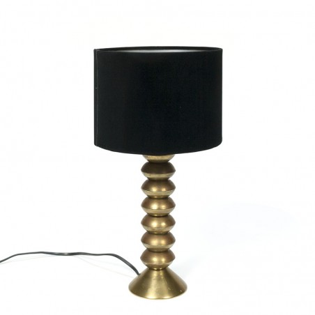 Vintage table lamp with brass base