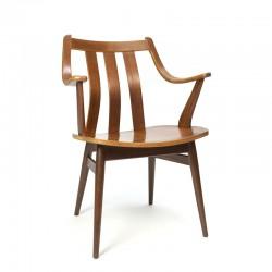 Vintage gebogen houten stoel vijftiger jaren