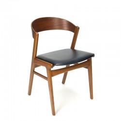 Vintage Deense design stoel met gebogen rugleuning