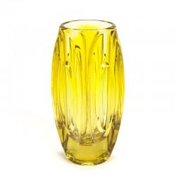 Vintage geel glazen vaas ontwerp Rudolf Schrötter
