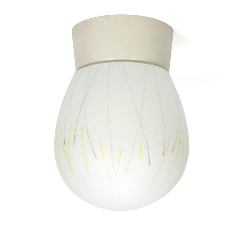 Vijftiger jaren vintage melkglazen plafondlamp