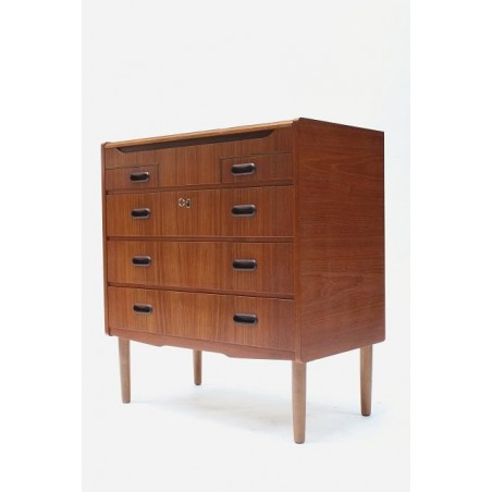Teak chest of drawers