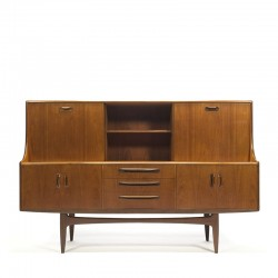 Teak vintage highboard design Victor Wilkins