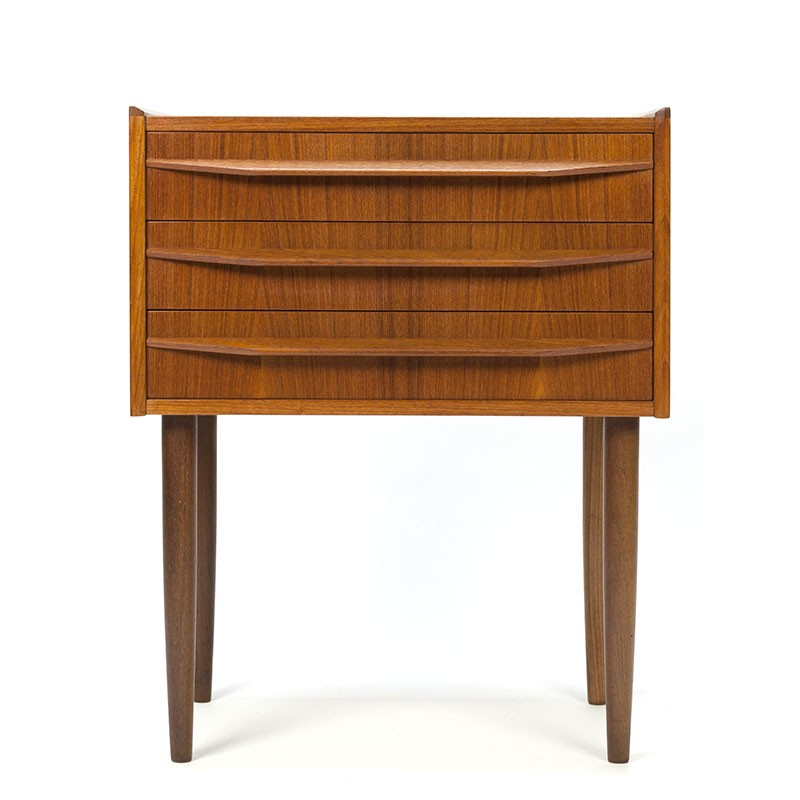 Vintage small model Danish chest of drawers on slender legs