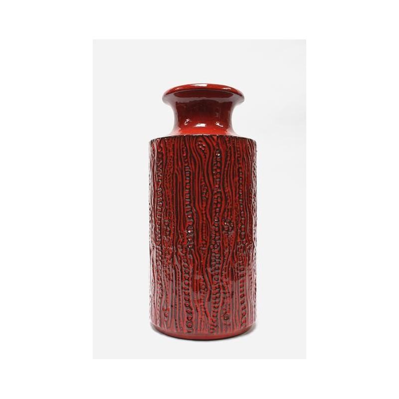 Large West-Germany vase Red