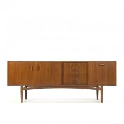 Teakhouten vintage laag dressoir van Gplan