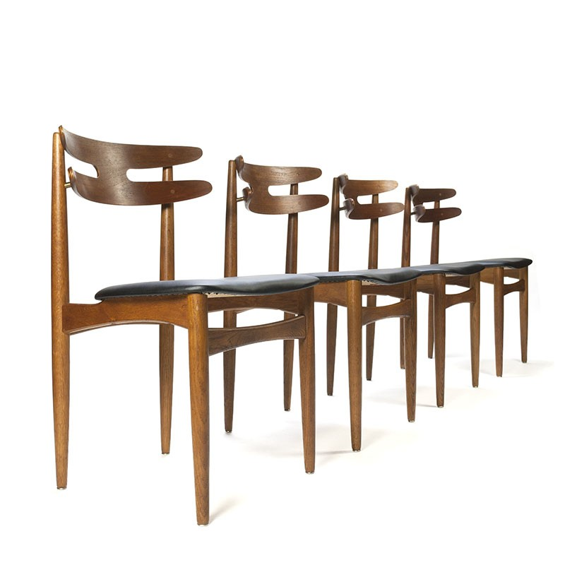 Vintage set of chairs model 178 design Johannes Andersen for