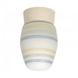 Melkglazen vintage plafondlamp jaren 50