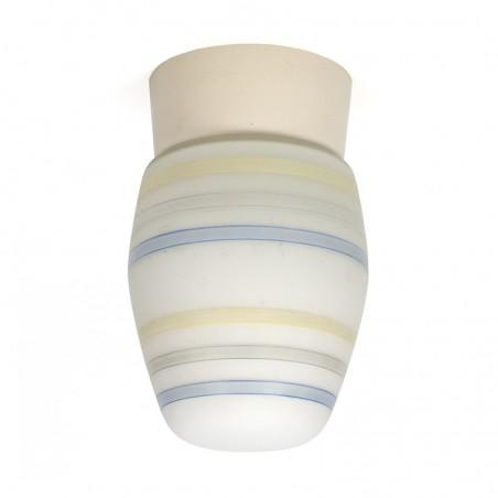 Milk glass vintage ceiling lamp 50s