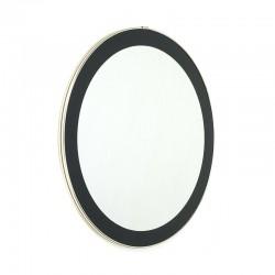 Ronde vintage spiegel met messing kleurige rand