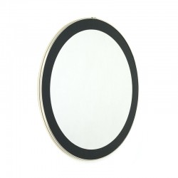 Round vintage mirror with brass colored rim