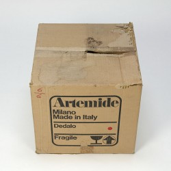 Vintage Artemide Dedalo umbrella stand in original packaging