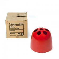 Vintage Artemide Dedalo umbrella stand in original packaging