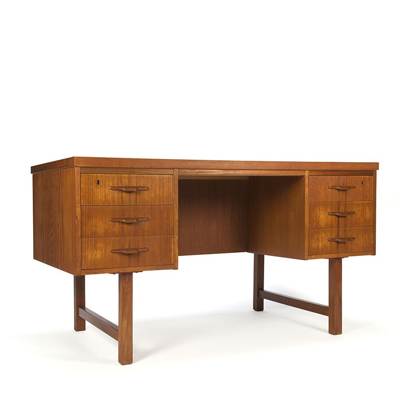 Scandinavian mid-century vintage desk in teak
