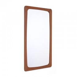 Teak vintage mirror with a wide rim