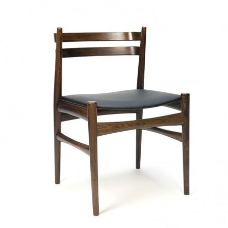 Scandinavische vintage palissanderhouten stoel