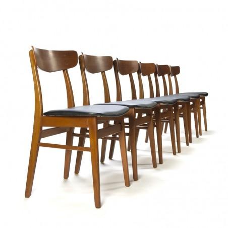 Teak set of 6 vintage Farstrup chairs
