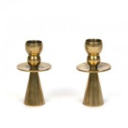 Danish set of 2 vintage candlestick by Kara